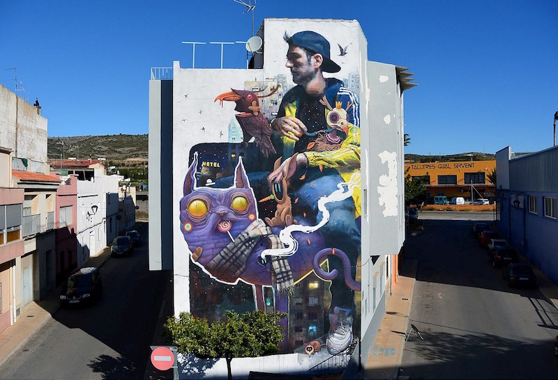 Sebas Velasco and Dulk - Collaboration Mural