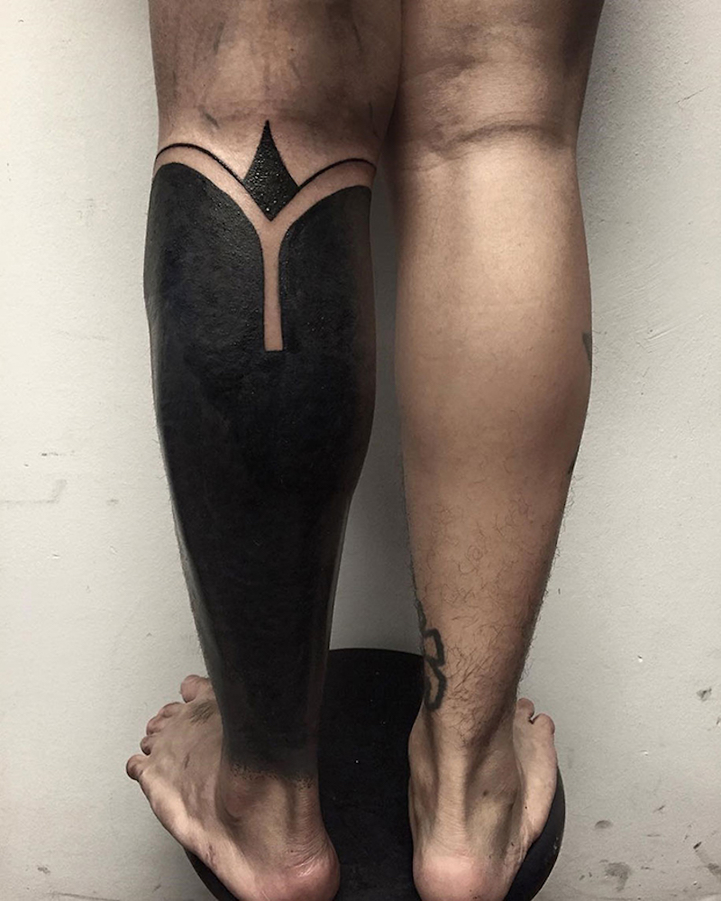 Blackout Tattoos - Leg - Chester Lee