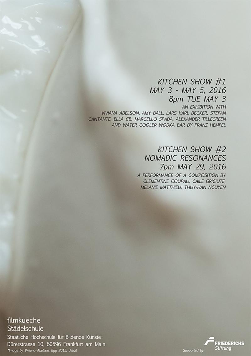 """Ausstellung """"kitchen show #1"""" in der Filmküche der Städelschule"""