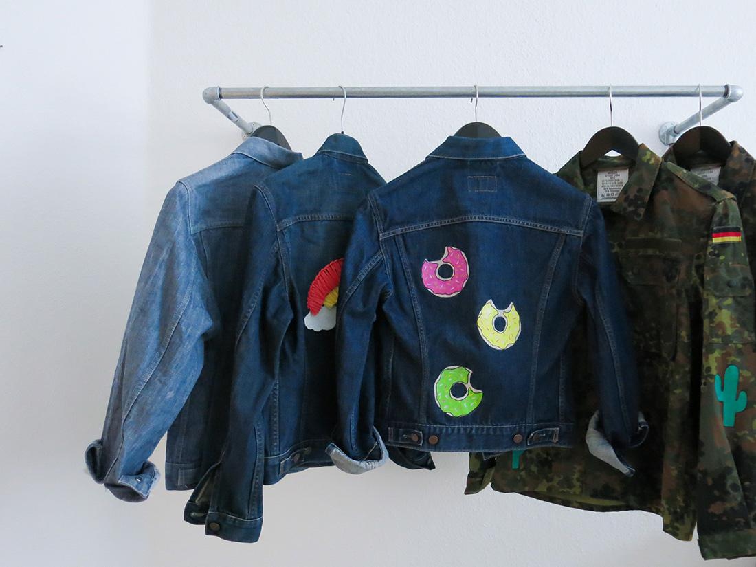 Handbemalte Jacken aus Frankfurt