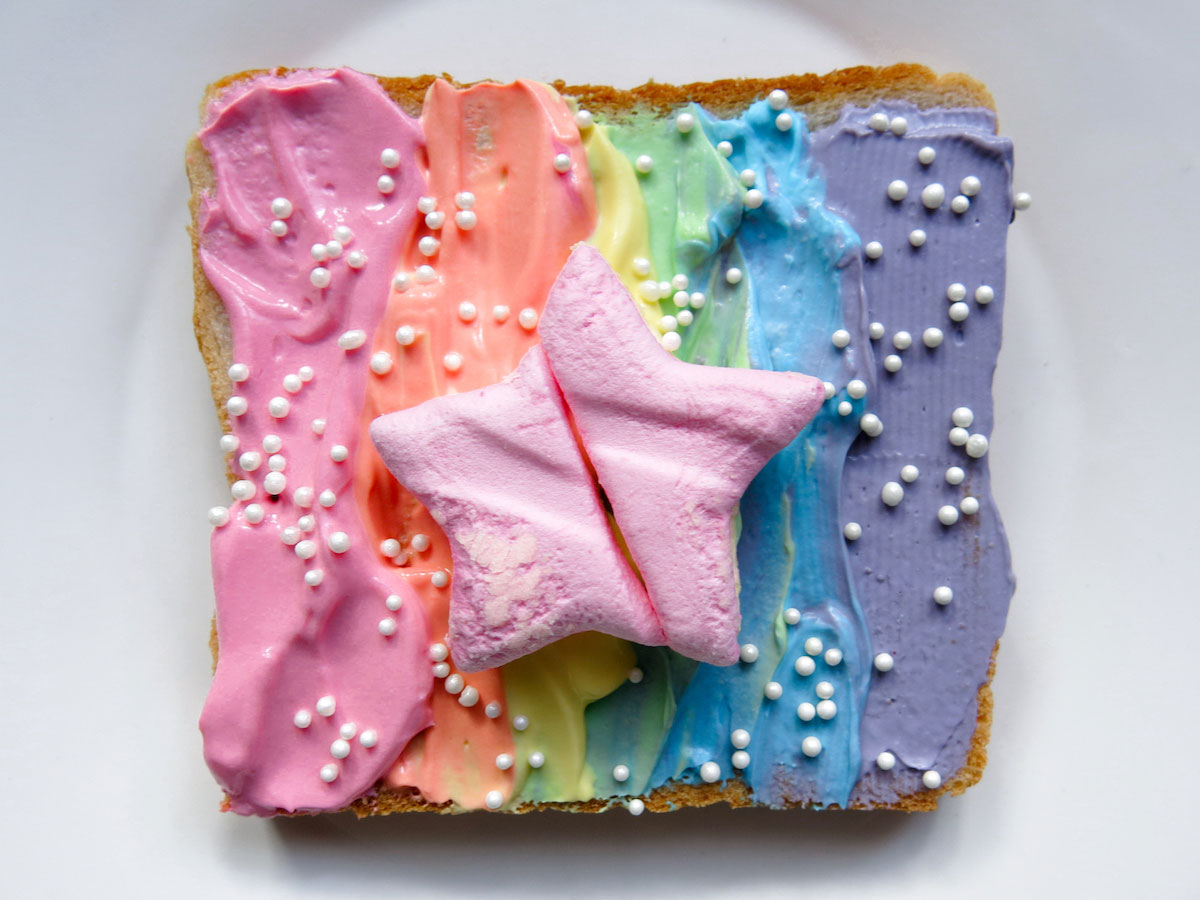 Unicorn Rainbow Toast