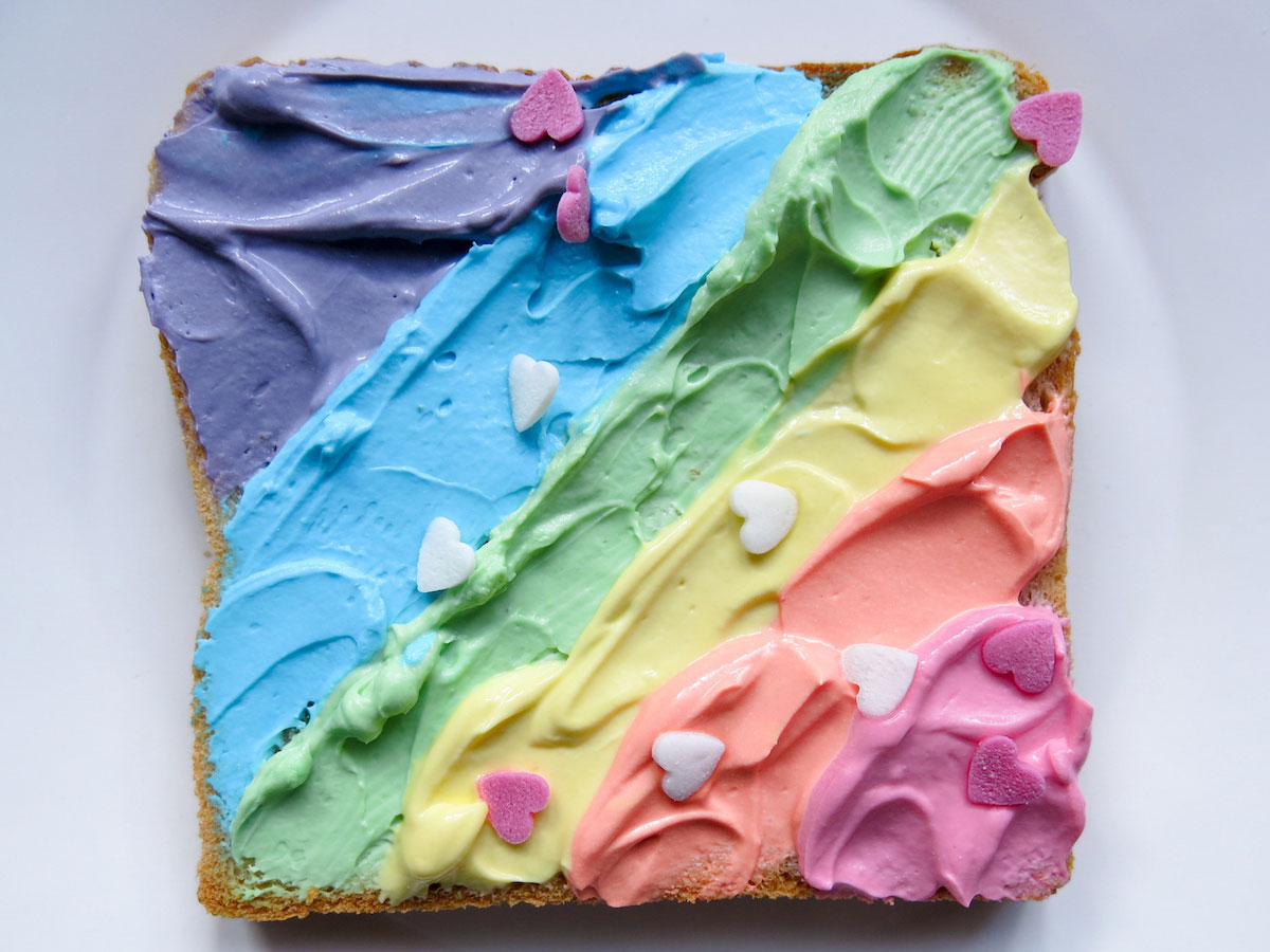 Breakafast like a Unicorn: Rainbow Toast