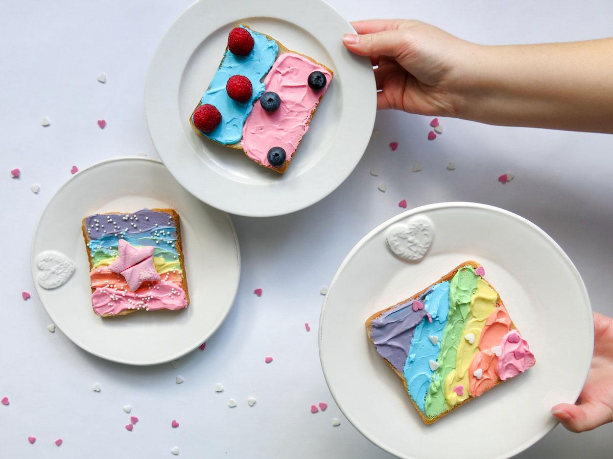 Unicorn Rainbow Toast selber machen
