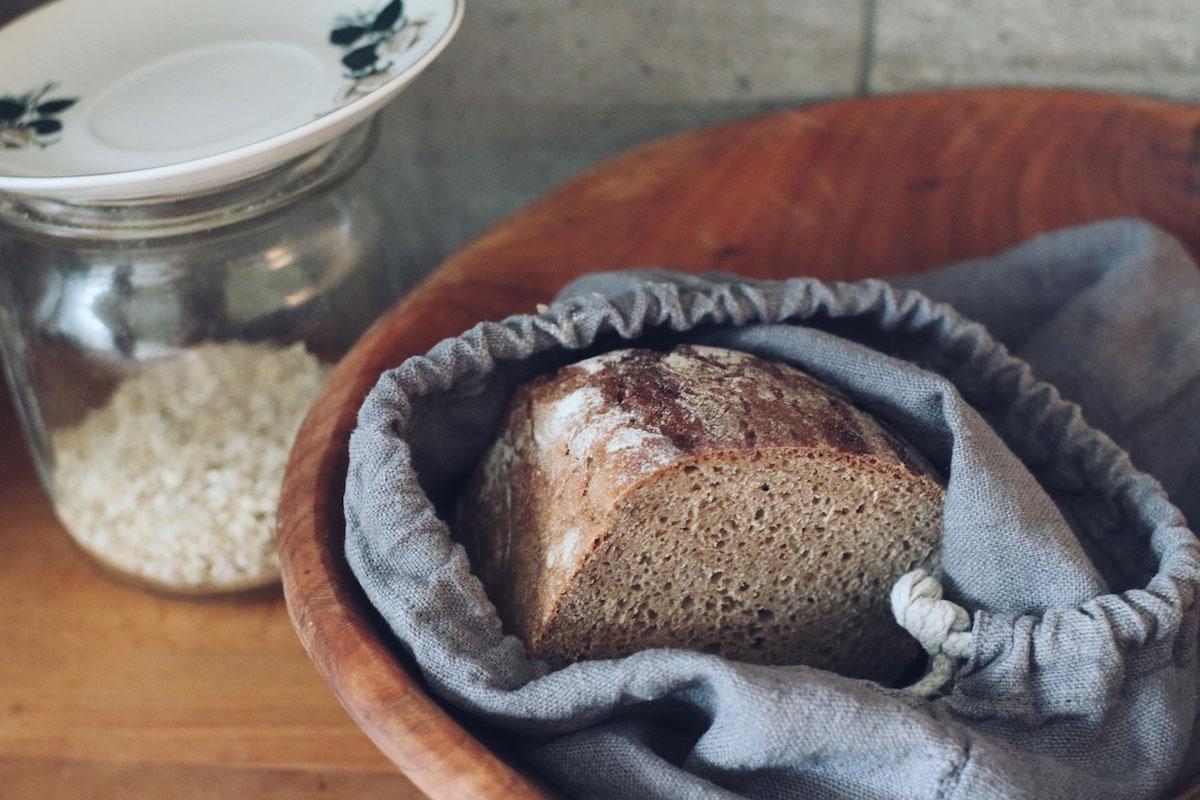 Schöne Brotbeutel aus Leinen von ezetera Design aus Frankfurt