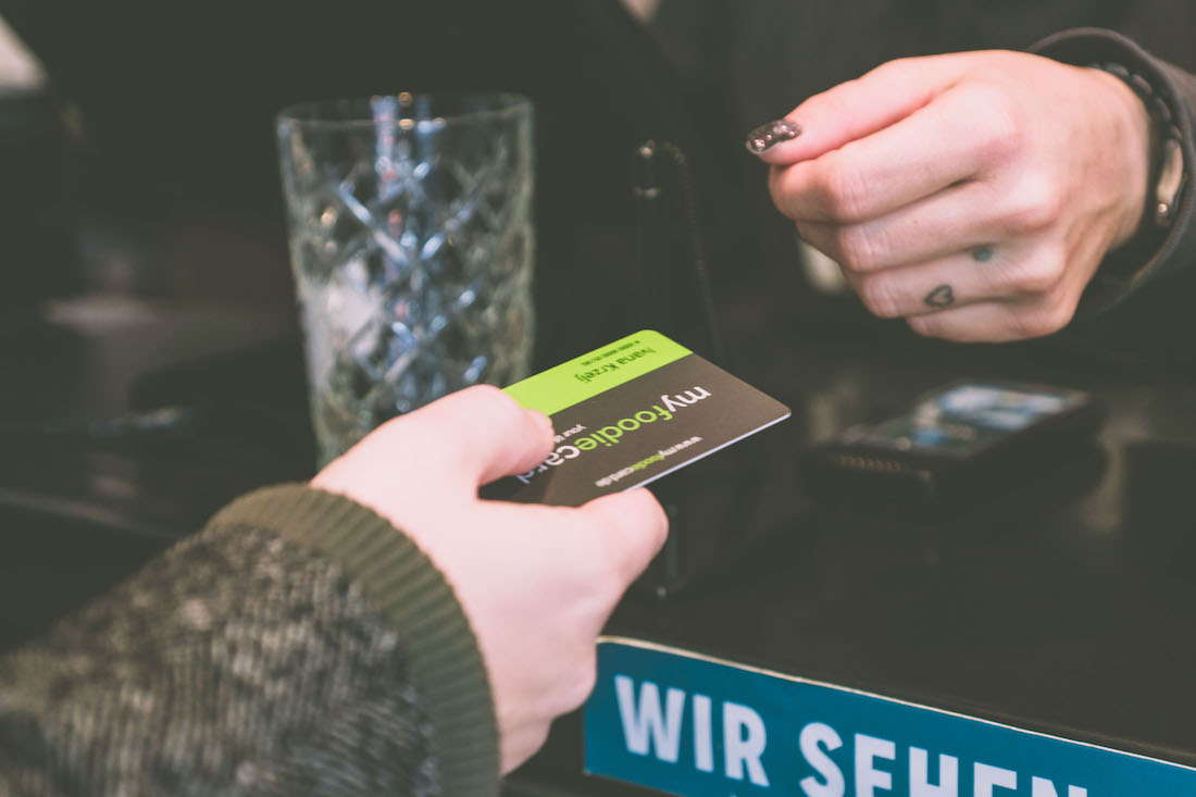 Bezahlen mit der myfoodiecard