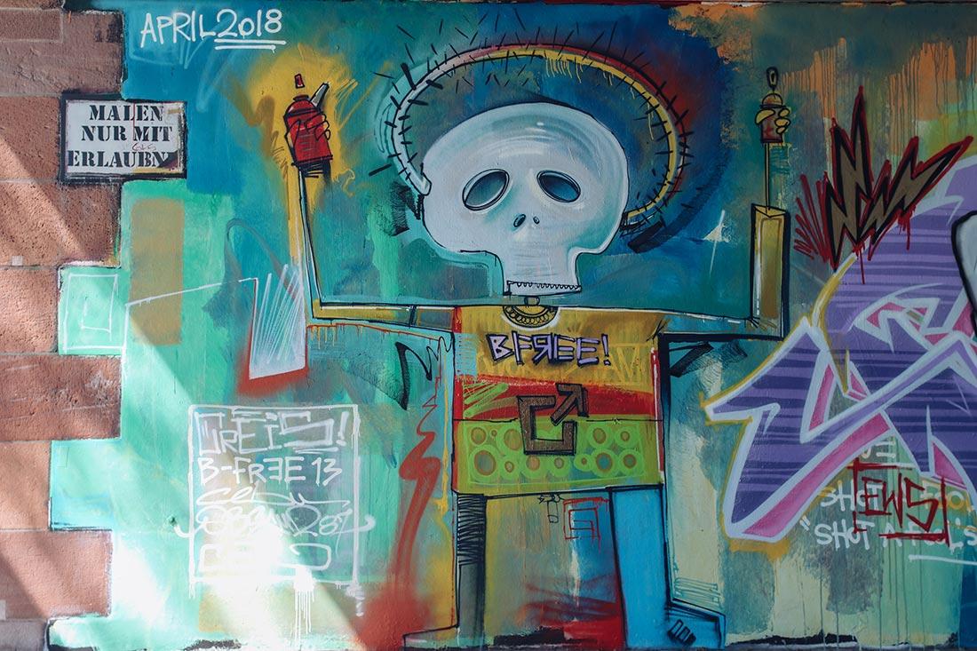 Basquiat Mural in Frankfurt