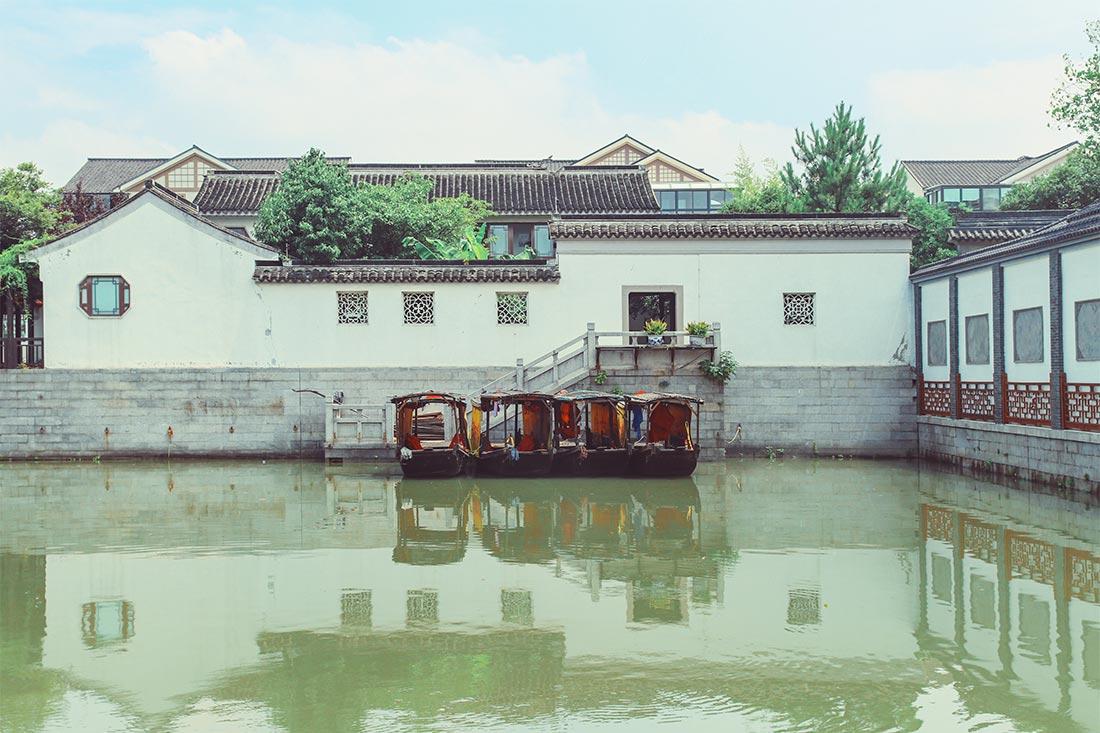 Die antike Wasserstadt Mudu in Suzhou