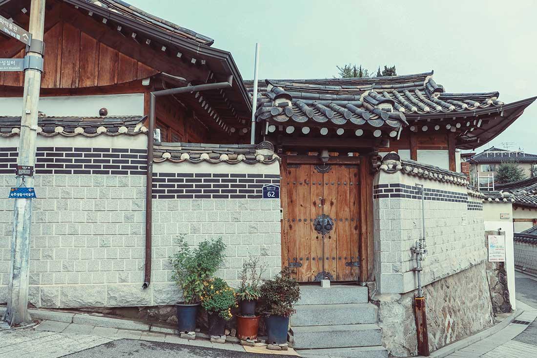 Ein ist ein Haus in traditioneller koreanischer Bauweise