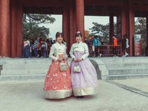 Die koreanische Hanbok Tracht